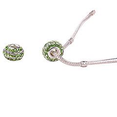 Vert Whorled grand trou de bricolage perles pour collier ou bracelet