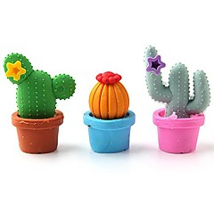 Cute Cactus Eraser Set School Stationery (12-Pack)\