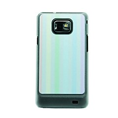 Colored Vertical Stripes Leather Vein Pattern Hard Case for Samsung Galaxy S2 I9100