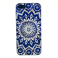 Blue Sun Flowers Pattern Hard Case for iPhone 5/5S