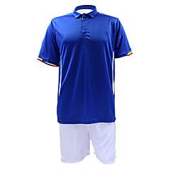 Men's Short Sleeves Soccer Suit Blue & White