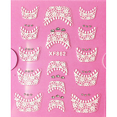 3D Rhinestone French Lace Nail Art Stickers XF Series NO.862