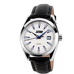 Skmei ® Homme Cuir Casual Bracelet montre-bracelet étanche 30m