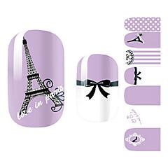 28st Lila Romantisk Paris Design nagel konst Stickers