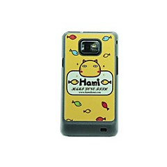 The Yellow Cat Signs Leather Vein Pattern Hard Case for Samsung Galaxy S2 I9100