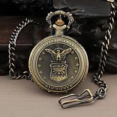 Men's Round Dial United States Air Force Military Quartz Analog Pocket Watch