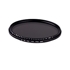 77mm Slim Fader Variabel ND filter Justerbar ND2 at ND400 Neutral Density