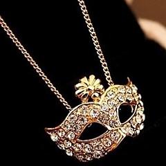 Fox Mask inlägg diamant Kvinna Kort nyckelbenet hängande halsband
