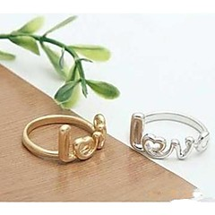 Creative Fashion Ring LOVE Letters