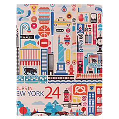 The Cartoon City Design PU Leather Full Body Case with Stand for iPad 2/3/4