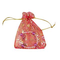 lureme®100 tilfældig blandet solbruningsmidler trækbare organza bryllupsgave poser&poser (tilfældig farve)