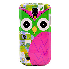 Cartoon Owl Pattern hård baksida täcker fallet för Samsung Galaxy S4 Mini I9190