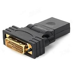 HDMI femmina a DVI 24 +1 maschio Adattatore Rotary - (nero)
