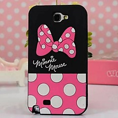 Cute Dot Bowknot Silicone Phone Case for Samsung Galaxy Note 2 N7100