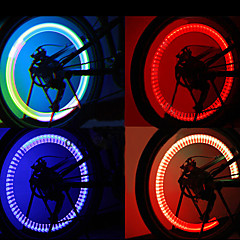 Motion Aktiveret Blinkende Multi-farvet LED Wheel Lights for cykler