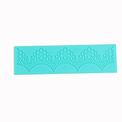 Lace Sugar Craft Silicone Cake Mold Semicircle Folwer Pattern