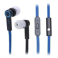 JTX JL-760 Universal (3.5mm Plug In-Ear Earphones with Microphone for Smartphone (Black + Blue)