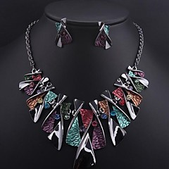 Women's Colored Gemstone (Necklace&Earring) Jewelry Sets