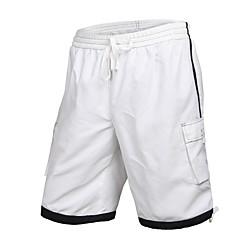 Men's Polyester Black White Surf Beach Short