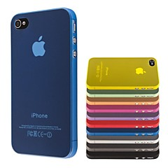 Thin PP Transparent Case Cover for iPhone 4/4S(Assorted Colors)
