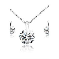 Jewelry-Necklaces / Earrings(Cubic Zirconia)Birthday / Engagement / Gift / Wedding / Party / Daily / Casual Wedding Gifts