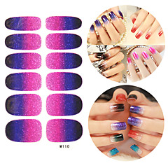 28PCS Glitter Gradient Ramp Nail Art Stickers M Series NO.110