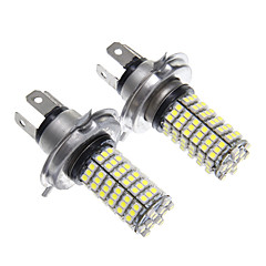 H4 120x3528SMD White Light LED forlygte pære (2pcs)