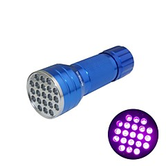 Huntereyes ™ 395-400NM 21 LED UV 플래쉬 블루 (3XAAA)
