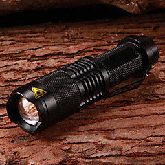 Фонарь LETO N8 5-режимный водонепроницаемый с регулируемым фокусом и светодиодной лампой Cree XM-L T6 (1x18650, 2000LM, черный)