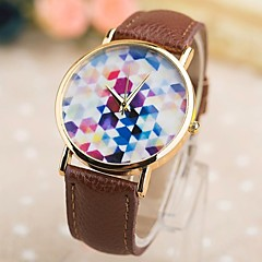 Women's Fashion Pu Rose Gold Box Quartz Watches(Assorted Colors)