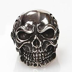 Anillos Forma de Cráneo Diario Joyas Titanio Acero Anillos de Diseño7 / 8 / 9 / 10 / 11 / 12 Plateado