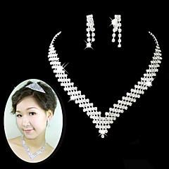 Biżuteria Ustaw Damskie Rocznica / Ślub / Zaręczynowy / Urodziny / Prezent / Strona / Piękny Jewelry Sets Stop Rhinestone Srebrny