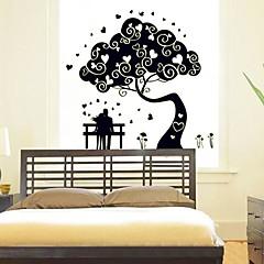 Äktenskap Room Bakgrund Dekorativa klistermärken Noctilucent Design Plast Bakgrund (Black x1pcs)