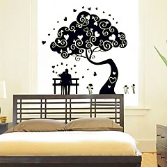Marriage Room Background Decorative Stickers Noctilucent Design Plastic Wallpaper(Black x1pcs)
