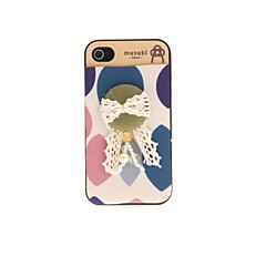 Korean Version Cloth Flowers Series Style Lace Dark Green Buttonlike Hard Case for iPhone 4/4S