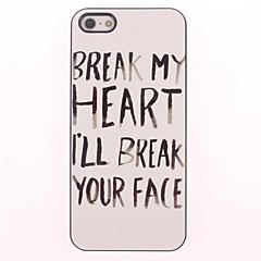 Break Your Face Design Aluminium Hard Case for iPhone 4/4S