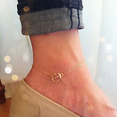 Shixin® Classic Golden Anchor Shape Anklet(1 Pc)