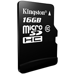 Kingston 16GB Clase 10 MicroSD/MicroSDHC/MicroSDXC/TFMax Read Speed10 (MB/S)Max Write Speed10 (MB/S)