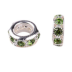 Green Rhinestone DIY Beads for Bracelet & Necklace