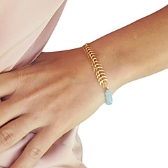Shixin® Classic Crystal Golden Alloy Charm Bracelets(1 Pc)