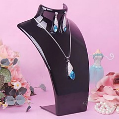Classic Portrait Nack Die Pendant Jewelry Stand Multicolor Acrylic Jewelry Displays(1 Pc)(More Color)