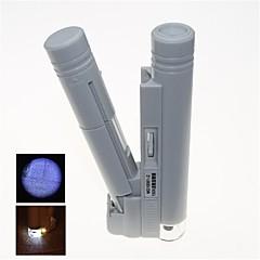 przenośne podświetlenia LED mikroskopu z 150x oznakowania skali (2 x AA)
