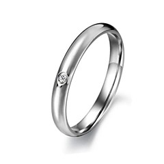 Ms Smooth Set Auger Exquisite Titanium Steel Ring