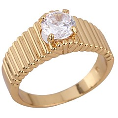 Women's New Arrival Gold Plated Hot Selling Unique Shape Zircon Rings