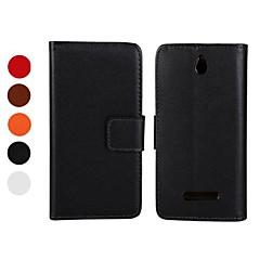 Affaire Full Body en cuir PU avec support et fente pour carte pour Sony Xperia E double C1605 (couleurs assorties)