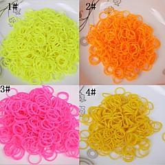 baoguang®600pcs regnbue farve væven ensfarvet elastik (1stk hækling, 24pcs krog, assorterede farver)