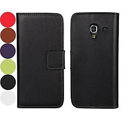 effen kleur patroon koffer met magnetische snap en kaartslot voor Samsung Galaxy Ace 2 i8160