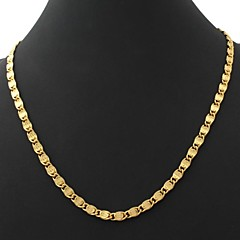 U7® Men's Vintage 18K Chunky Gold Filled Figaro Chain Necklace for Men 6MM 22Inches 55CM Christmas Gifts