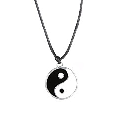 Fashion Stainless Steel Tai Ji Pendant Necklace