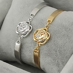 U7® Hot Sale AAA+ Luxury Zirconia Bracelet Bangle for Women 18K Real Gold Platinum Plated Imitation Diamond Birthstone